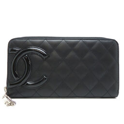 CHANEL A50078 Cambon line zipper wallet x calfskin ladies wallet DH62684 [used] A rank