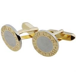 BVLGARI Bulgari Bulgari Cufflinks 750 Yellow Gold x Stainless Steel Men's Cufflinks DH62817 [Used] A rank