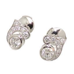 CARTIER Cartier Pt950 0.31ct Pirouette Diamond Pt950 Platinum Women's Earrings DH62843 [Used] A rank