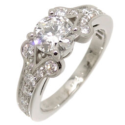CARTIER Cartier Pt950 # 47 0.61ct Ballerina Half Eternity Diamond Pt950 Platinum No. 7 Ladies Ring / Ring DH62902 [Used] A rank