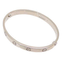 CARTIER Cartier 750WG LOVE love old model 750 white gold ladies bracelet DH62909 [used] A rank
