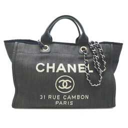 CHANEL A66941 Deauville GM Denim x Leather Women's Tote Bag DH62942 [Used] AB Rank