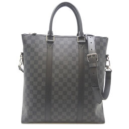 LOUIS VUITTON Louis Vuitton N40000 Anton Damier Graffiti Canvas Men's Tote Bag DH62944 [Used] A rank