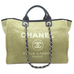CHANEL Deauville Canvas x Leather Women's Tote Bag DH62949 [Used] A rank