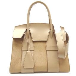 MIUMIU Miu Miu 5BA102 2Way Bag Madras Leather x Soft Calf Ladies Handbag DH62950 [Used] A rank