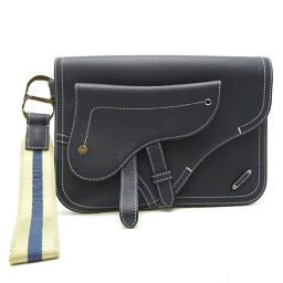 Christian Dior Christian Dior saddle x calf leather ladies clutch bag DH62980 [used] A rank