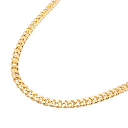 Non Brand Non Brand K18 20.3g 2 Sides Kihei K18 Gold Women's Men's Necklace DH63116 [Used] A Rank
