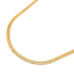 Non Brand Non Brand K18 10.1g 40cm 6 Sides W Kihei K18 Gold Women's Men's Necklace DH63122 [Used] A Rank