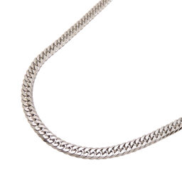 Non Brand Non Brand Pt850 50cm 30.4g 6 Sides W Kihei Pt850 Platinum Women's Men's Necklace DH63127 [Used] A Rank