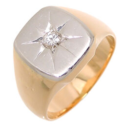 Non Brand Non Brand K18 Pm Diamond K18 Gold x Pt Platinum No. 19.5 Men's Ring / Ring DH63130 [Used] AB Rank