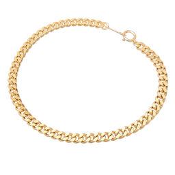 Non Brand Non Brand K18 18cm 10.2g 2 sides Kihei K18 Gold Women's Men's Bracelet DH63131 [Used] A rank