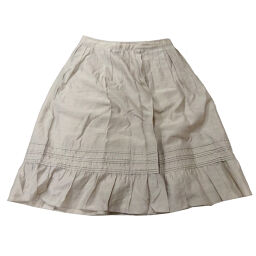 BURBERRY Burberry flared skirt # 36 × rayon / cupra / polyester ladies skirt DH63279 [used] AB rank