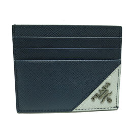 PRADA Prada 2MC223 Card Holder (Outlet) Saffiano Leather x Metal Men's Card Case DH63332 [Used] A rank