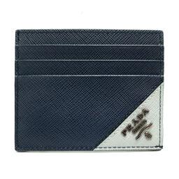 PRADA Prada 2MC223 Card Holder (Outlet) Saffiano Leather x Metal Men's Card Case DH63333 [Used] A Rank