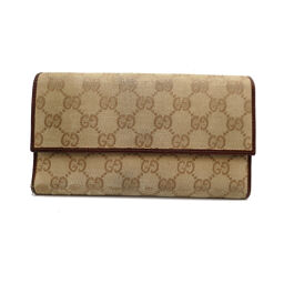 GUCCI Gucci 257303 Tri-Fold Wallet (Outlet) GG Canvas x Leather Women's Men's Tri-Fold Wallet DH63338 [Used] BC Rank