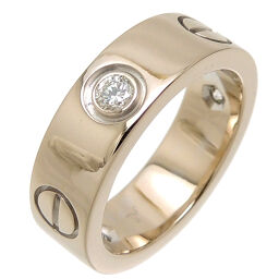 CARTIER Cartier 750WG # 48 0.22ct LOVE Half Diamond Love 750 White Gold No. 8 Ladies Ring / Ring DH63377 [Used] A rank