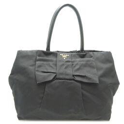 PRADA Prada BN1601 Fiocco Ribbon Tote Nylon x Leather x TESSUTO FIOCCO Ladies Shoulder Bag DH63460 [Used]