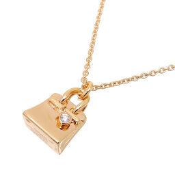 HERMES Hermes 750PG Amulet Birkin PM 1P Diamond 750 Pink Gold Ladies Necklace DH63522 [Used] A rank