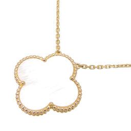 Van Cleef & Arpels Van Cleef & Arpels 750YG Magic Alhambra (100th Anniversary Limited Edition) 750 Yellow Gold x White Shell Ladies Necklace DH63527 [Used] A rank