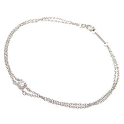 TIFFANY & Co. Tiffany Pt950 Solitaire Diamond Pt950 Platinum Ladies Bracelet DH63599 [Used] A rank