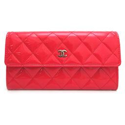 CHANEL Chanel Matrasse Fastener Enamel Ladies Long Wallet DH63625 [Used] A rank