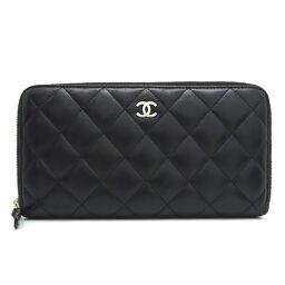 CHANEL A50097 Matrasse Round Zipper Lambskin Women's Wallet DH63630 [Used]