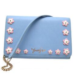 JIMMY CHOO Jimmy Choo 043023 Chain Wallet Jewelery Flower Garden Calf x Leather Ladies Wallet Chain DH63661 [Used] A rank