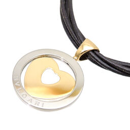 BVLGARI 750YG Tondo Heart Choker 750 Yellow Gold x Stainless Steel Women's Necklace DH63676 [Used] AB Rank