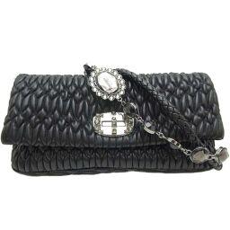MIUMIU Miu Miu 5BD233 Materasse Crystal Shoulder Leather Women's Shoulder Bag DH63691 [Used] A rank