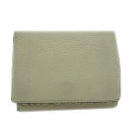LOEWE ロエベ 三つ折りコンパクトウォレット レザー レディース・メンズ 三つ折り財布 DH63706        【中古】