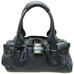 Chloe Chloe 04-06-51-5191 Paddington Leather Women's Handbag DH63971 [Used] AB Rank