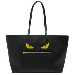 FENDI FENDI 8BH185-1BV-159-0059 Monster Rollback Leather Women's Men's Tote Bag DH64205 [Used] AB Rank