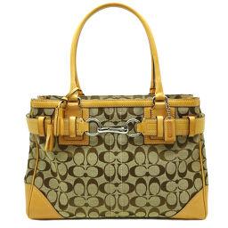 COACH Coach F10246 Signature Tote Bag Canvas x Leather Ladies Handbag DH64206 [Used] AB Rank