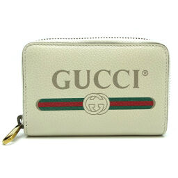 GUCCI Gucci 496319 Gucci print leather ladies' and men's card case DH64217 [used] A rank