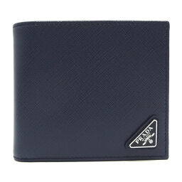 PRADA Prada 2 MO738 × SAFFIANO TRIANG Men's bi-fold wallet DH64218 [Used] S rank