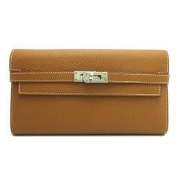 HERMES Hermes Kelly wallet T engraved 2015 made Vaux Epson ladies wallet DH64223 [used] A rank