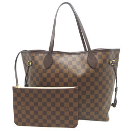 LOUIS VUITTON N41603 Neverfull MM * Damier canvas ladies tote bag with pouch DH64229 [Used] A rank
