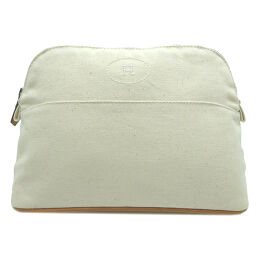 HERMES Hermes Bored Pouch MM Cotton Canvas Women's Men's Pouch DH64236 [Used] A rank