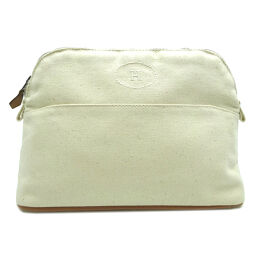 HERMES Hermes Bored Pouch MM Cotton Canvas Women's Men's Pouch DH64237 [Used] A rank