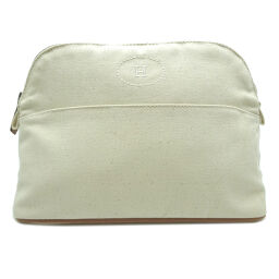 HERMES Hermes Bored Pouch MM Cotton Canvas Women's Men's Pouch DH64238 [Used] A rank