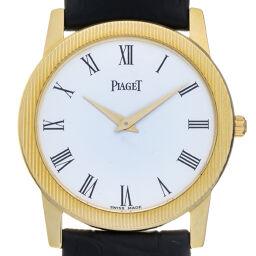 PIAGET ピアジェ 17864 プロトコール 750イエローゴールド×レザー メンズ 腕時計 DH64258       【中古】Aランク