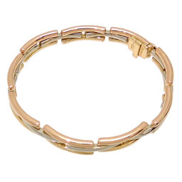 BVLGARI 750YG 750WG 750PG 3 color gold 750 yellow gold x 750 pink gold x 750 white gold ladies' and men's bracelet DH64316 [used] A rank