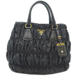 PRADA Prada B1789M Handbag * Strap shortage Leather x Tessuto x TESSUTO GOUFFRE Ladies Handbag DH64371 [Used] A rank