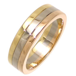 CARTIER Cartier 750 Three Color Gold # 47 Louis Cartier Vendome 750 Yellow Gold x 750 Pink Gold x 750 White Gold No. 7 Ladies Ring / Ring DH64404 [Used] A rank