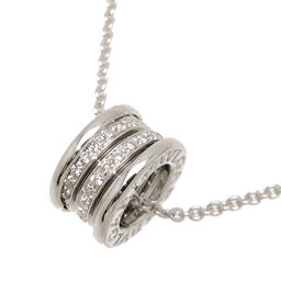 BVLGARI Bvlgari 750WG B-zero1 B-zero One Diamond 750 White Gold Women's Men's Necklace DH64405 [Used] A rank