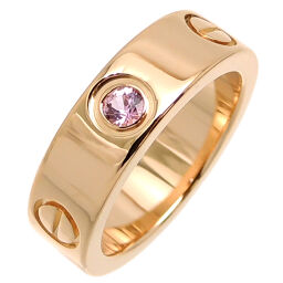 CARTIER Cartier 750PG # 50 LOVE Love Pink Sapphire 750 Pink Gold No. 10 Ladies Ring / Ring DH64411 [Used] A rank