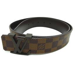 LOUIS VUITTON Louis Vuitton M9807 Damier Saint Tulle Initials # 85/34 × PVC / Leather Men's Belt DH64420 [Used] A rank