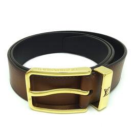 LOUIS VUITTON Louis Vuitton M0250U (Discontinued) Saint Tulle Pont Neuf # 85/34 × Calf Leather Men's Belt DH64423 [Used] AB Rank