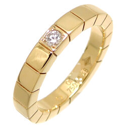CARTIER Cartier 750YG # 48 Lanier Diamond 750 Yellow Gold No. 8 Ladies Ring / Ring DH64448 [Used] A rank