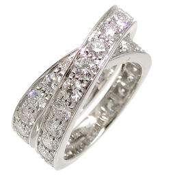 CARTIER Cartier 750WG # 54 Paris Diamond 750 White Gold No. 14 Ladies Ring / Ring DH64461 [Used] A rank